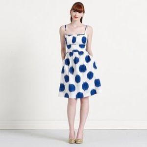 Kate Spade Ikat Polka Dot Spaghetti Strap Dress